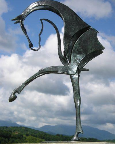 Cheval bronze Nunky